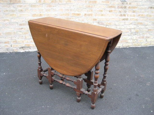 American Walnut Gate Leg Table Ca Olde Chicago Antiques - Antique gateleg tables