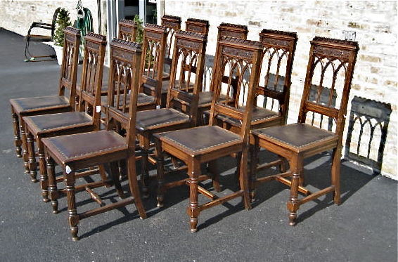 Tags: 12, Dining, Dining Room Chairs, Gothic, Matching Set