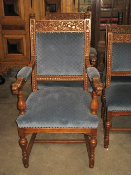 IMG_8841 - Antique Carved Oak Set Of 6 Chairs – Lion Heads Olde Chicago Antiques