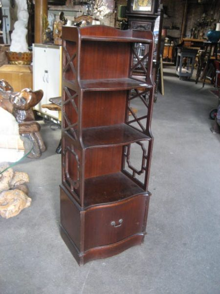 Mahogany Shelf Unit Bookcase Or Etagere Ca 1930 Olde