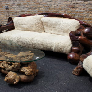 California Redwood Root Furniture U2013 Great Room Set U2013 5 Pieces