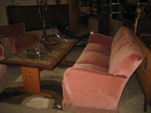 Awe Inspiring Art Deco Salon Set 2 Club Chairs And Sofa From Denmark Ncnpc Chair Design For Home Ncnpcorg