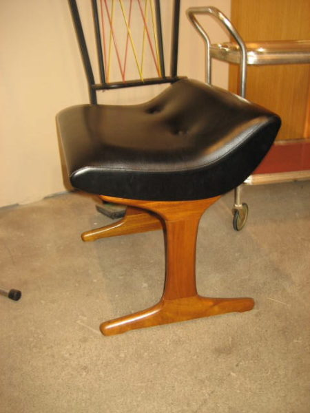 Excellent Mid Century Modern Vanity Stool Antique From Denmark Dailytribune Chair Design For Home Dailytribuneorg