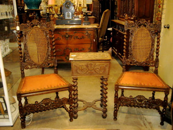 pair of antique carved wood chairs from holland 1890 olde